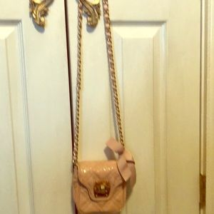 Talbots Bag small pink gold chain evening